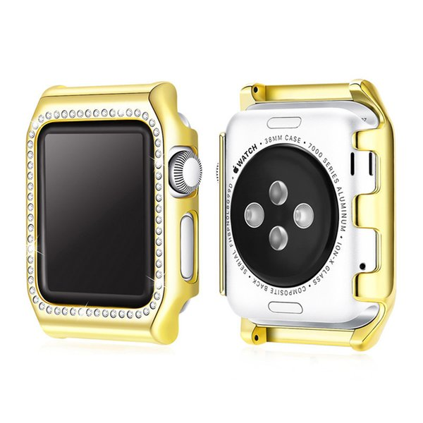 Bling Crystal Diamonds Case 38/42mm, Bling Hard PC Frames Bumper Protective Cover Series 3 2 1