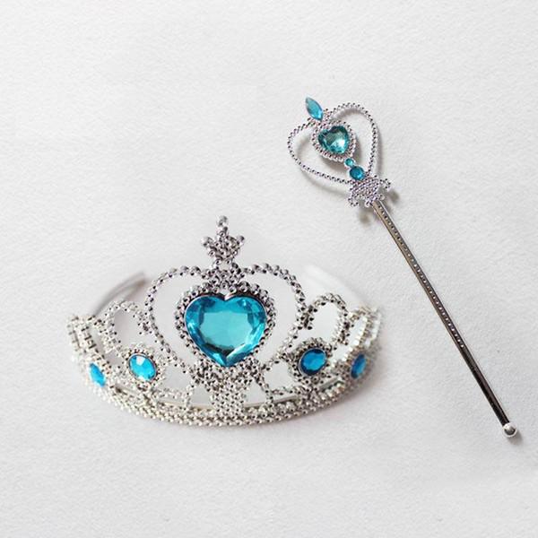 ccessories Headwear New Princess Crown Magic Stick Cosplay Hair Accessories For Girls Princess Crown Crystal Diamond Tiara Hoop Costume H...