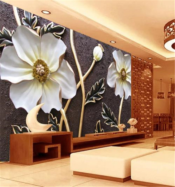 Low Price For Wallpaper Hd Embossed Flower 3d Flower Wallpaper Flower Room Wall Paper Customized Wallpaper For Walls Home Decoration Hd Wallpapers