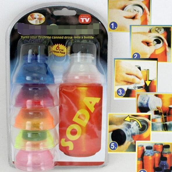 Yaratıcı 6 Adet Soda Tasarrufu Pop Bira Içecek Can Cap Kapak Şişe Üst Kapak Koruyucu Snap on fincan kapağı su pınarı yalıtımlı