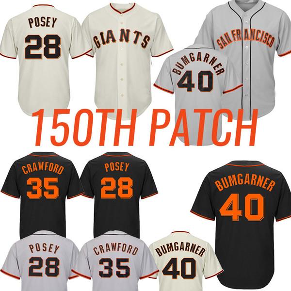 28 Posey 35 Brandon Crawford 35 Brandon Crawford San Baseball Francisco Jerseys Gigante