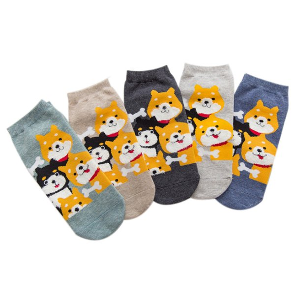 wholesale 2019 Spring Summer Cartoon Dogs Squirrel Cat Kawai Indie Socks Tumblr 90s Fashion Grunge Teens Cute Ankle Socks Women