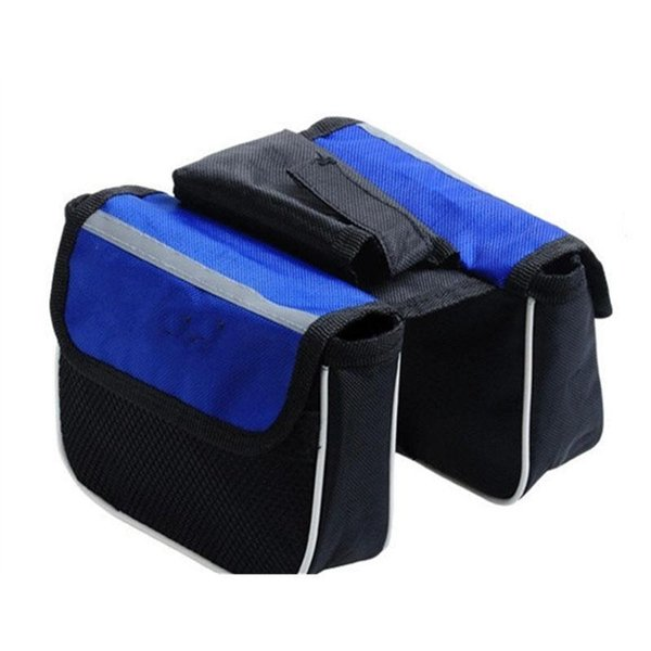 Road Bike Bag Upper Tube Frame Mount Pannier Phone Camera Storage Bag Double Side Pouch Cycling Bike Bicycle Accessories