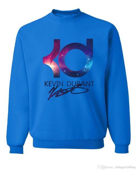 New Kevin Durant Basketball Autumn Winter Fashion Men Sweatshirts Hoodies Hip Hop Black Blue Streerwear Sweatshirts