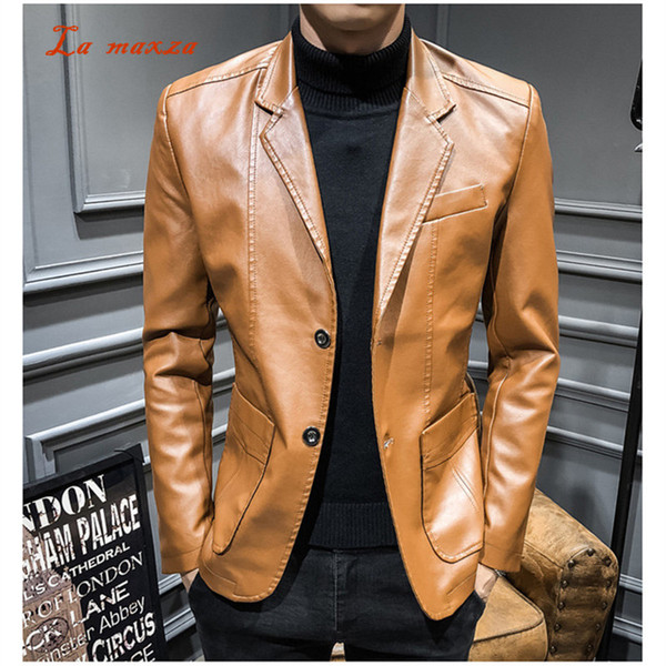 Motorcycle Men Leather Jackets and Coats Punk Casual PU Moto Mens Jackets Fashion Streetwear Parkas