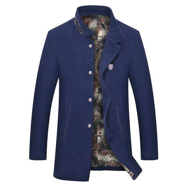 Mrmt Nice Brand Autumn Winter Mens Jackets Collar Overcoat For Male Woolen Coat Long Windbreaker Jacket Outer Wear Clothing