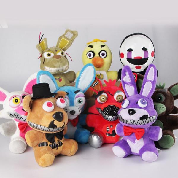 El más nuevo Five Nights at Freddy's 4 Stuffed Plush Toy Game Rol Cartoon Animal Doll Kids Children Gift Freddy Bonnie Foxy Chica