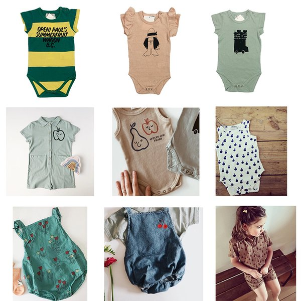Baby Boys Rompers 2019 Summer Bobo C Girls Print Jumpsuits Newborn Infant Cotton One Pieces Clothes Toddlers Costume J190524