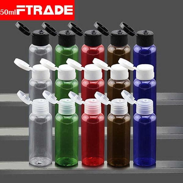 All'ingrosso-Spedizione gratuita (50 pz / lotto) 50 ML Muji con bottiglia pompa lozione Dispenser di sapone Bottiglia di crema con pompa a spruzzo Bottiglie vuote di plastica