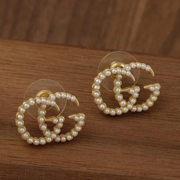 Nouveau mode jewerly célèbre Stud titane acier fil boucles d'oreilles en or 18 carats plaqué en acier inoxydable bijou classique boucles d'oreilles pour les femmes c