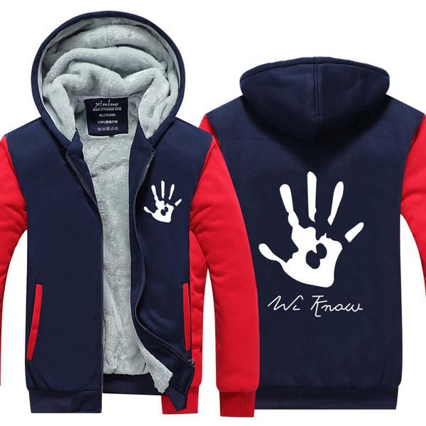 Männer Casual Verdicken Große hand Sweatshirts Winter Kaschmir Hoodie Reißverschluss Jacke Freizeit Sweatshirts Verdicken Strickjacke Mantel USA EU Größe
