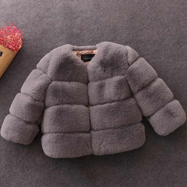 top popular New Winter Girls Coat Elegant Baby Girl Faux Fur Jackets and Coats Thick Warm Parka Kids Outerwear Jacket BC452 2021