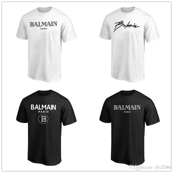 2019 neue stil b almain herren designer t shirts schwarz weiß mode hoodies kurzarm marke clothing fans tops tees shirts gedruckt logos