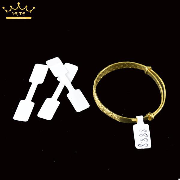 Anéis de qualidade por atacado de jóias Etiquetas de etiquetas de preço de papel de etiqueta, etiquetas de preço, etiquetas de anel dobradas em branco branco
