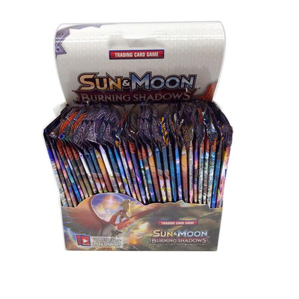 Sun&Moon Burning Shadows English Cards Cartoon Anime Trading Cards Games 324pcs/set Pocket Playing Cards Toys DHL