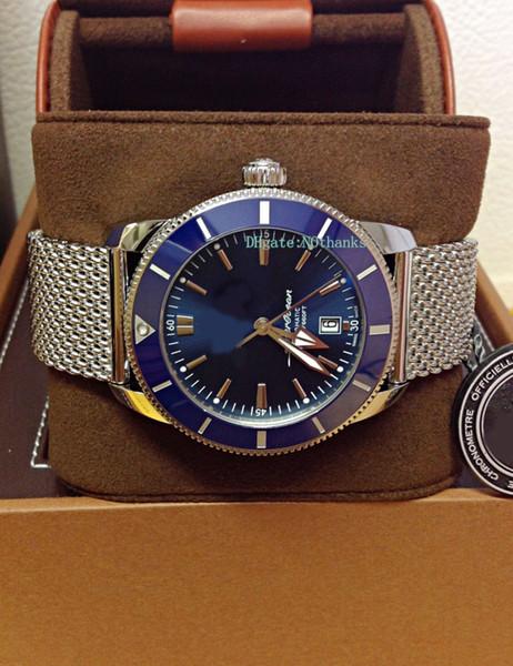 Miglior orologio da polso di lusso 46mm II AB2020161C1A1 46mm quadrante blu da immersione meccanico automatico Mens Orologi