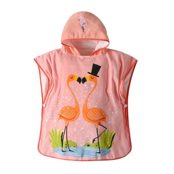 The swan cotton Baby bath robe cute Kids Bath Towels Children Towels Robes Kids Beach Towels Infant cloak Baby bath towel cape A3952