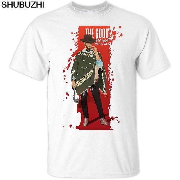 Il buono il brutto e il cattivo, Clint Eastwood, poster, t-shirt Tutti Taglie S-5XL manica corta O-Collo della maglietta del cotone Top Tee