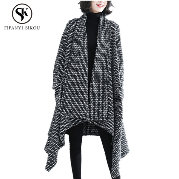 Oversized Long Cardigan Coat Winter Sweater Women Fashion Loose Casual Knitting Sweaters Coat Female Thick warm Cardigans Coats