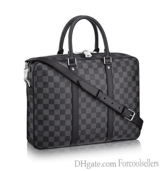 N41478 Pm Voyage Hombres bolsos del mensajero del hombro de la correa del bolso de totalizadores de la cartera carteras del equipaje de la lona