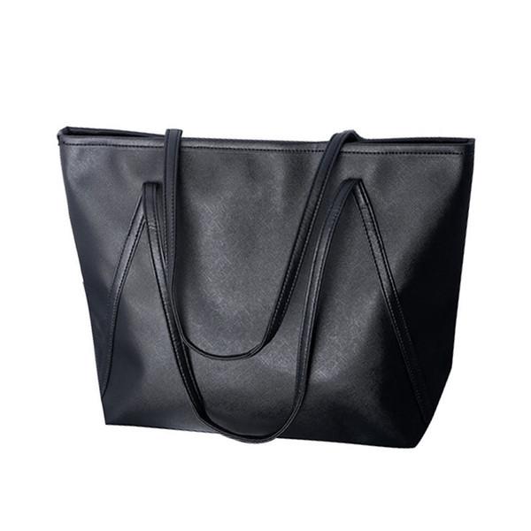 простые кожаные женские увеличенные сумки Messenger Bag New Color: черный