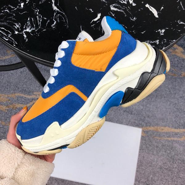 TOP Paris 17FW Triple-S Zapatilla de deporte 2019 Zapatos de papá de lujo Hombres Mujeres Diseñador de marca Moda casual Zapato de baloncesto deportivo gc191013012