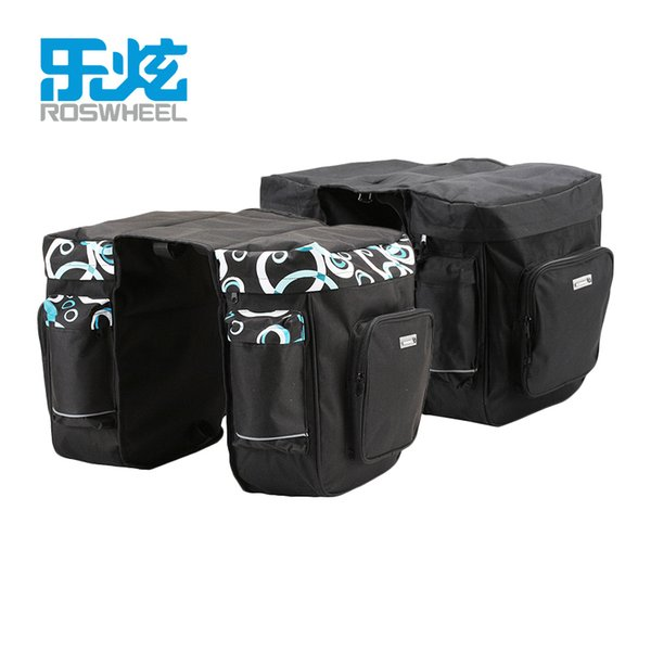 Bicycle Carrier Bag 30l Rear Rack Trunk Bike Luggage Back Seat Pannier Two Double Bags Outdoor Cycling Saddle Storage