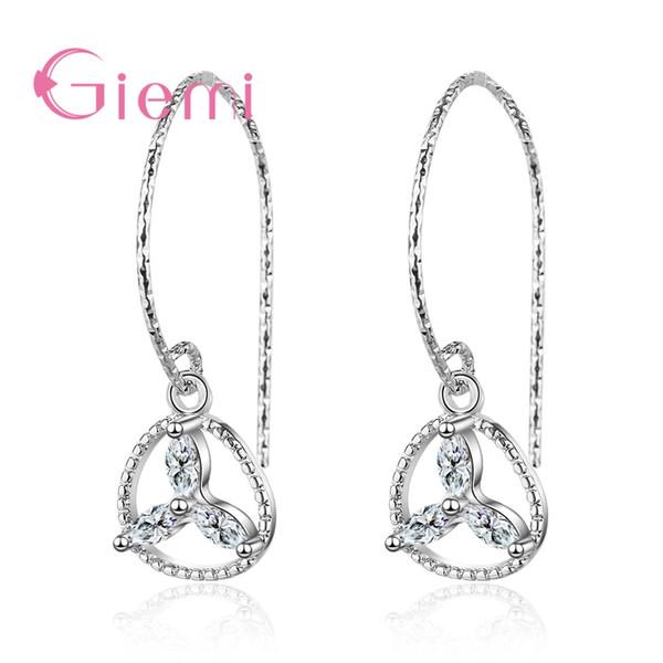 Fresh Colver S90 Earing Hook Strass Minimalist Clover Ear Hook Damen personalisierte elegante Mori Style Schmuck