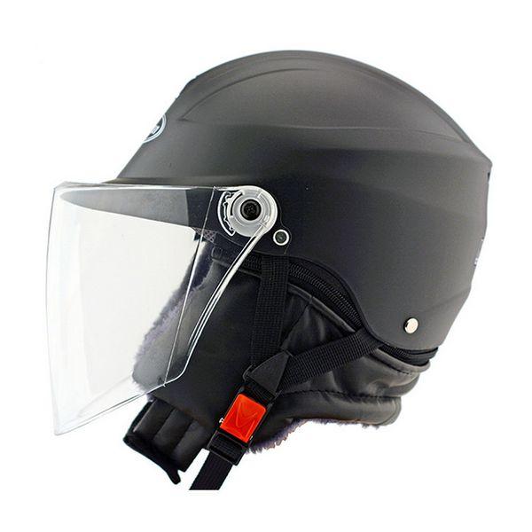 Seguridad casco de la motocicleta duro Mantener caliente cara abierta desmontable Off Road proteger cascos de ciclismo WinProof sombrero del verano del casquillo C7