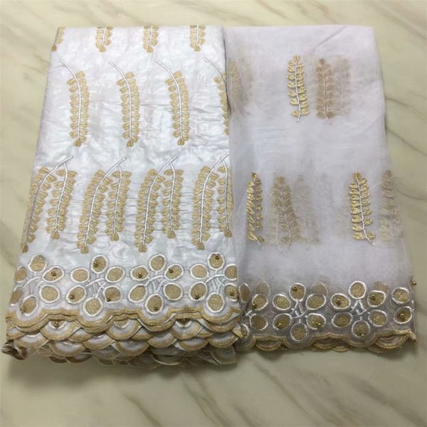 african bazin riche getzner fabric jacquard brocade fabric with beads high quality with french lace headtie 5+2yard/lotPLB47