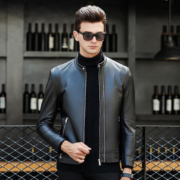 Pop2019 Мужская куртка с капюшоном и рисунком Свободное пальто Корейская самосовершенствующаяся трендовая кожаная куртка