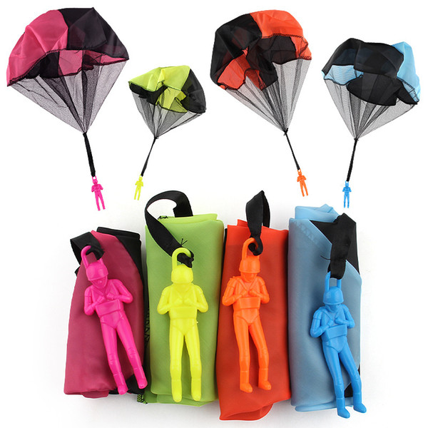 best selling Hand Parachute Kids Throwing Toy Mini Soldier Parachute Children Outdoor Play Sports Toys