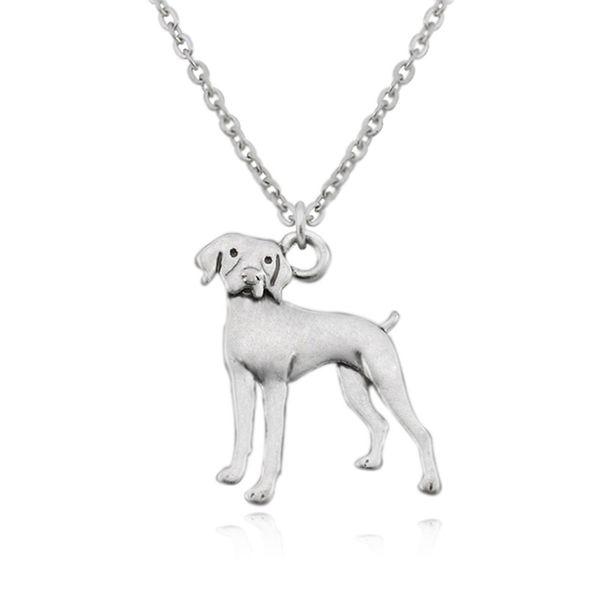 Vintage Vizsla & German Shorthaired Pointer Dog Charm Pendant Chain Necklaces Men Colar For Women Jewelry Accessories Boho Couple Necklace