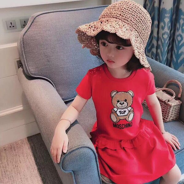 il trasporto libero Little Girls Princess Dress Party Baby Girl Clothes Summer Children Dress Dress Abiti per bambini per le ragazze