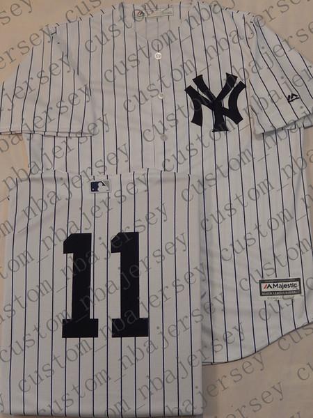 Cheap Custom Brett Gardner Cool Base White Stripes jerseys Stitched Retro Mens jerseys Customize any name number XS-5XL