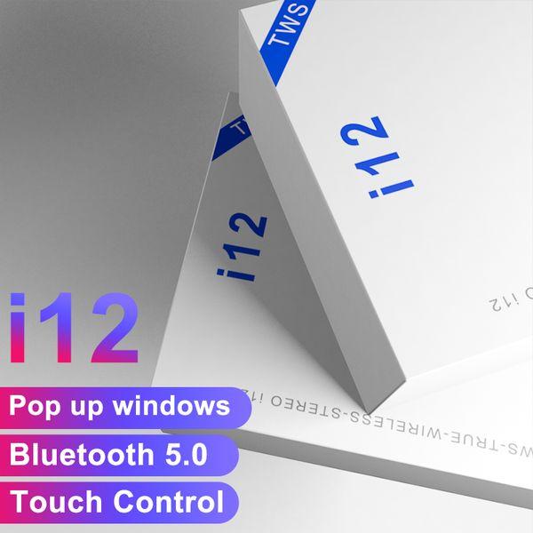 i12 Tws touch V5. 0 Беспроводные Bluetooth наушники ture стерео наушники красочные сенсорное управление беспроводная гарнитура наушники горшок вверх окна