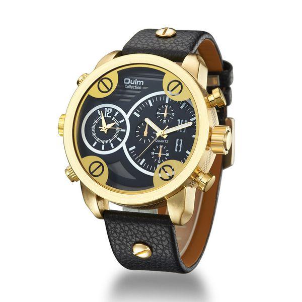 High-end men's sports style waterproof watch Factory wholesale personalized gift Multi-time zone clock Bracelet