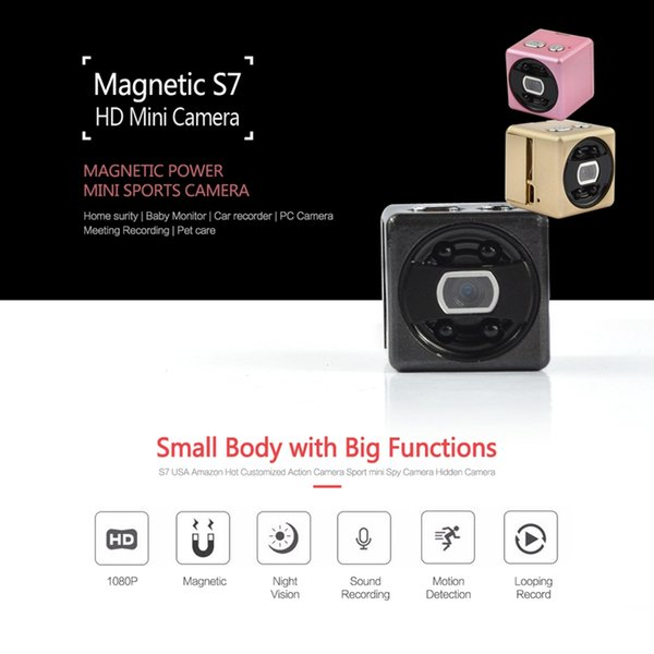 Full HD 1080P Mini Camera S7 IR Night Vision video Camcorder portable Motion Detection MINI DV DVR Micro Camera support Tf card