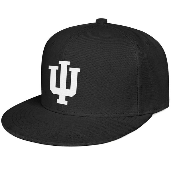 Womens Mens Flat-along Adjustable Indiana Hoosiers Basketball white logo Hip Hop Cotton Cricket Cap Golf Military Caps Airy Mesh Hats For Me