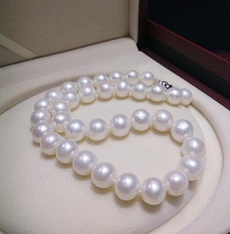 12-13MM natural freshwater pearl necklace round necklace super light send mother silver 925 clasp
