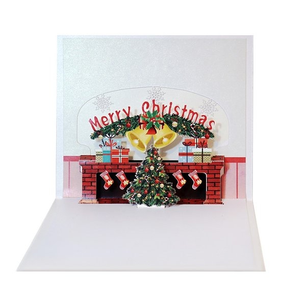 Colorful Merry Christmas Cards Fireplace Christmas 3d Popup Cards Gorgeous Winter Festival Greeting Card Holiday Invitations Online Christmas Cards