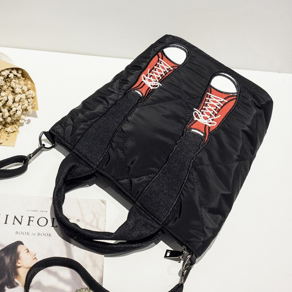 Explosion models Korean fashion crossbody bag Contrast color Oxford leg bag Simple hand bag shoulder Handbag female
