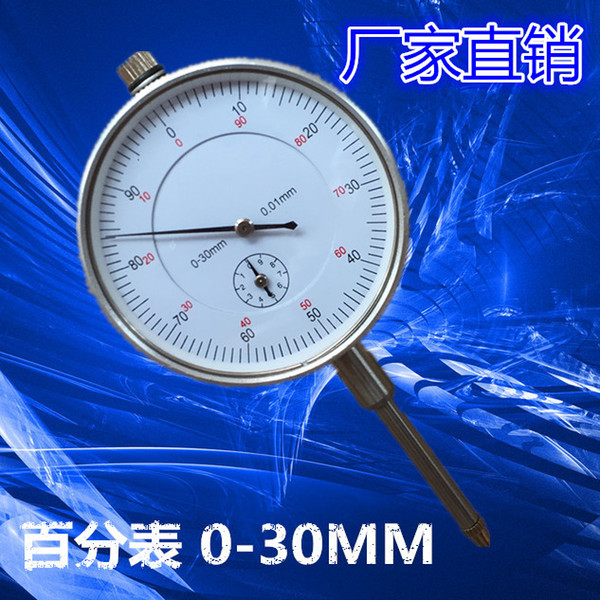 best selling Pointer Dial Indicator 0-30MM 0.01MM With Ear Locking Mechanical Pointer Large Range Gauge