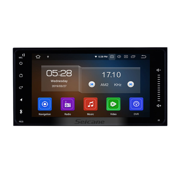 7 inch HD TouchScreen Android 9.0 Car GPS Navigation System for Toyota Universal with Bluetooth USB AUX WIFI support DVR OBD II car dvd