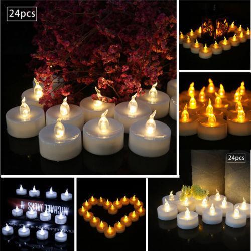 Té luz multicolor de velas sin llama parpadeo del LED con pilas de Navidad de la novedad