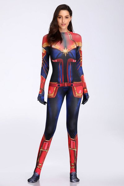 Sexy Lingerie Ladies Captain surprise Costume Fancy Dress Avengers Cosplay Outfit Catsuit SM9901