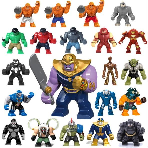 Avengers 3 Super Heroes Anti-Big Blocks Blocks Aberdeen Armed Bats Gladiator Hulk Venom Tree Man Bain Blocks Big Boy Boy Girl Gift Model Toy