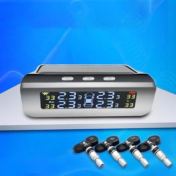 Внешний монитор давления в шинах Внешний высокоточный солнечный мониторинг беспроводной системы контроля давления в шинах
