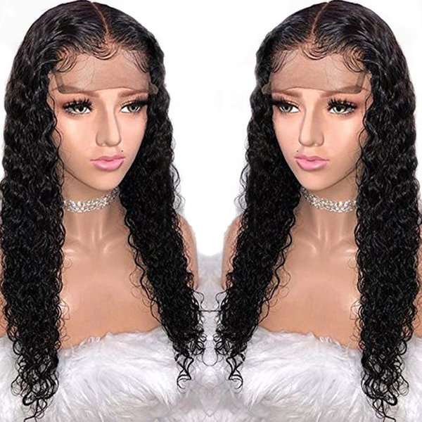 13X6 Deep Part Lace Front Human Hair Wigs Preplucked 360 Lace Frontal Closure Wig For Black Women Water Wave Peruvian Remy Wig