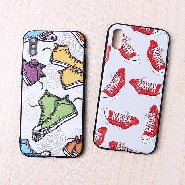 Cool Fashion Sports Shoes Crashproof Back Cover Acrylic Cell Phone Cases Protective Covers For Apple iPhone X XR XS MAX 6 6S 7 8 PLUS